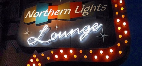 The Northern Lights Outdoor sign